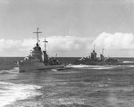 Destroyers Cushing and Drayton at sea, 8 Feb 1938