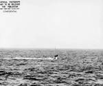 USS Drum submerged off Mare Island Naval Shipyard, California, United States, 22 Mar 1944
