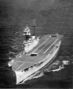 HMS Eagle underway, 1936