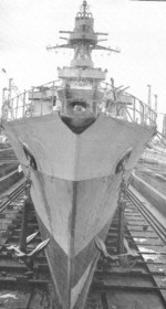 Émile Bertin in drydock at Bizerte, Tunisia, Jun 1944