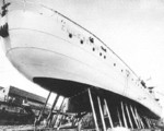 Émile Bertin under construction, Saint-Nazaire, France, circa 1932-1933