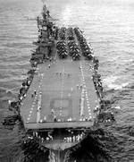 Enterprise underway toward Panama Canal, 10 Oct 1945