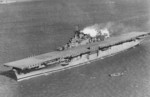 USS Essex at Hampton Roads, Virginia, United States, 1 Feb 1943. Photo 1 of 2.