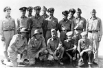 George Bush and other rescued airmen with some of the officers and men of USS Finback, Sep 1944
