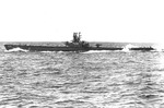 USS Finback underway off New London, Connecticut, United States, 7 Mar 1949