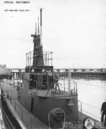 USS Flier at Mare Island Naval Shipyard, Vallejo, California, United States, 27 Apr 1944, photo 2 of 2