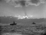 HMS Formidable and HMS Renown, probably off North Africa, circa Nov-Dec 1942