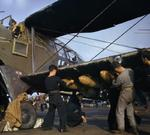 Armorers equipping an Albacore aircraft aboard HMS Formidable, off North Africa, Nov 1942