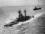HMS Resolution and HMS Formidable underway in the Indian Ocean, 1942-1943
