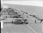 Martlet fighters aboard HMS Formidable in the Mediterranean Sea, 1940s