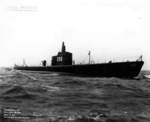 Bow view of submarine Gar, Groton, Connecticut, United States, 17 Mar 1941