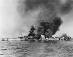 Admiral Graf Spee burning at River Plate, 17 Dec 1939