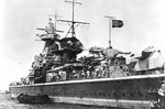 Admiral Graf Spee at anchor in Montevideo harbor, Uruguay, 13-16 Dec 1939