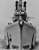 Bow view of US submarine Grunion, mid-1942