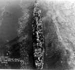 Aerial view of large cruiser Guam, Philadelphia Navy Yard, Pennsylvania, United States, 25 Oct 1944, photo 5 of 5