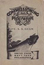 Cover page of the program to USS Guam