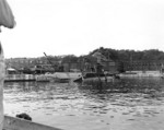 Ha-101 (front edges), I-369, and RO-58 at Yokosuka Naval Base, Japan, 7 Sep 1945; note the three Kairyu submarines near RO-58
