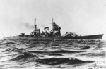 Haguro, probably between Dec 1931 and Nov 1932 when she was the third-ranking ship of Japanese Navy