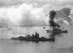Haguro under air attack by USAAF 3rd Bomb Group, Simpson Harbor, Rabaul, New Britain, 2 Nov 1943