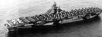 USS Hancock departing San Diego, California, United States, 23 Aug 1944.