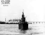 Bow view of USS Harder, Mare Island Navy Yard, Vallejo, California, United States, 19 Feb 1944