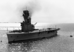 HMS Hermes off Yantai (Chefoo), China, circa 1931