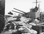 Torpedo damage on Hobart, 20 Jul 1943, photo 3 of 5
