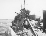 Torpedo damage on Hobart, 20 Jul 1943, photo 4 of 5