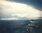 US and Australian cruisers enter Subic Bay, Philippines, Aug 1945