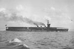Carrier Hosho running full power trials, Tateyama Bay, Japan, 30 Nov 1922