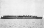 Light carrier Hosho after removal of superstructure, 22 Sep 1924