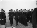 King George VI inspecting HMS Howe, Scapa Flow, Scotland, United Kingdom, date unknown, photo 1 of 2