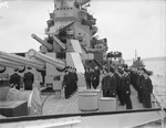 King George VI inspecting HMS Howe, Scapa Flow, Scotland, United Kingdom, date unknown, photo 2 of 2
