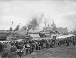 HMS Howe at Glasgow, Scotland, United Kingdom, Jul 1942