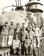 Officers of submarine I-400, circa late Aug 1945