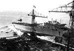 The Launching of Italian battleship Impero, Genoa, Italy, 15 Nov 1939