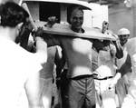 James Roosevelt punished by Shellbacks, Equator crossing ceremony aboard Indianapolis, Nov 1936