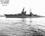 Indianapolis off Mare Island Navy Yard, California, 2 May 1943, photo 1 of 2