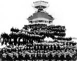 Kinkaid aboard Indianapolis (front row, near center), 1937