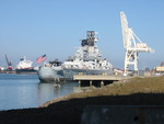 Battleship Iowa at Terminal 3, Richmond, California, United States, 1 Jan 2012