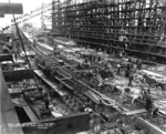 Battleship Iowa under construction, New York Navy Yard, New York, United States, 30 Sep 1940, photo 1 of 2