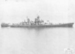 Starboard view of USS Iowa, off Bayonne, New Jersey, United States, 7 Apr 1943