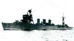 Light cruiser Isuzu immediately after modification in Tokyo Bay off Yokohama, Japan, 1944