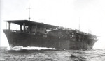 Carrier Kaiyo off Tokuyama, Yamaguchi Prefecture, Japan immediately before she entered naval service as an escort carrier, 15 Nov 1943