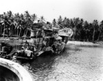 Kikuzuki under salvage in Halavo Bay, Florida Island, near Tulagi, Aug 1943