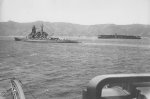 Kirishima and Akagi in Tsukumo Bay, Japan, 27 Apr 1939