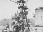 Japanese battlecruiser Kirishima undergoing maintenance and training at Sasebo, Japan, 4 May 1921