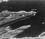 RAF reconnaissance photo showing Köln moored in the Fætten Fjord northeast of Trondheim, Norway, 19 Jul 1942, photo 2 of 3