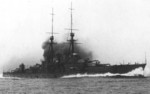 Battlecruiser Kongo on sea trials, Aug 1913