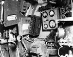 Control room of a Koryu type submarine, looking forward, Oct-Dec 1945, copied from the U.S. Naval Technical Mission to Japan Report S-01-7, Jan 1946, pg 117, fig 126; photo 2 of 3